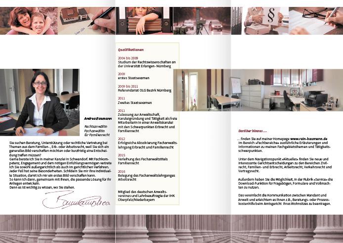 Rechtsanwältin Andrea Baumann · Folder