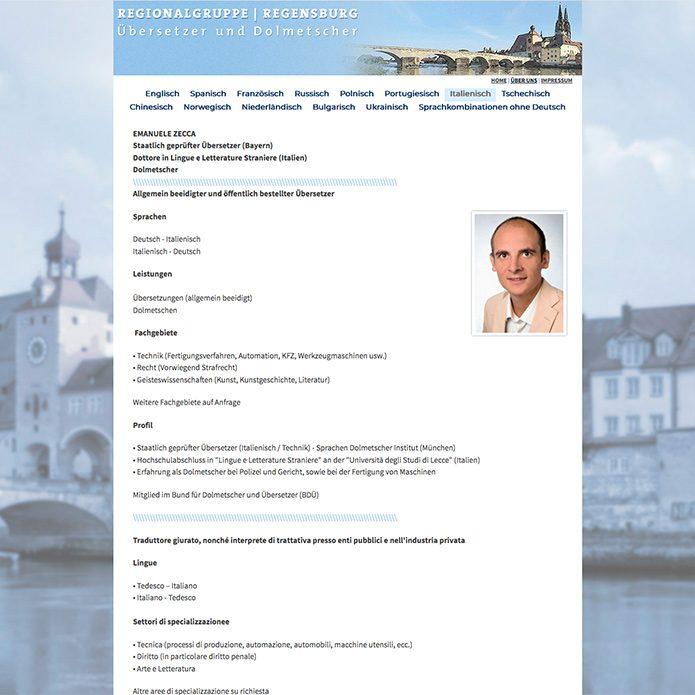 Regensburger Übersetzer Homepage
