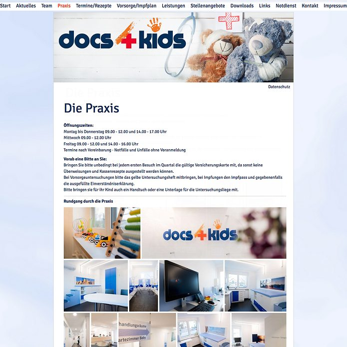 docs4kids Homepage