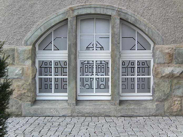 Praxis im Rheinkamper Rathaus :Fenster-Sichtschutz-1