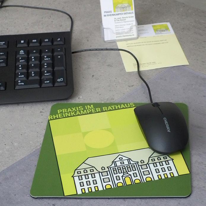Praxis im Rheinkamper Rathaus · Mousepad