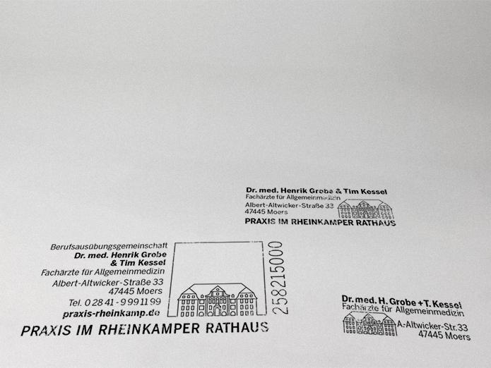 Praxis im Rheinkamper Rathaus · Stempel