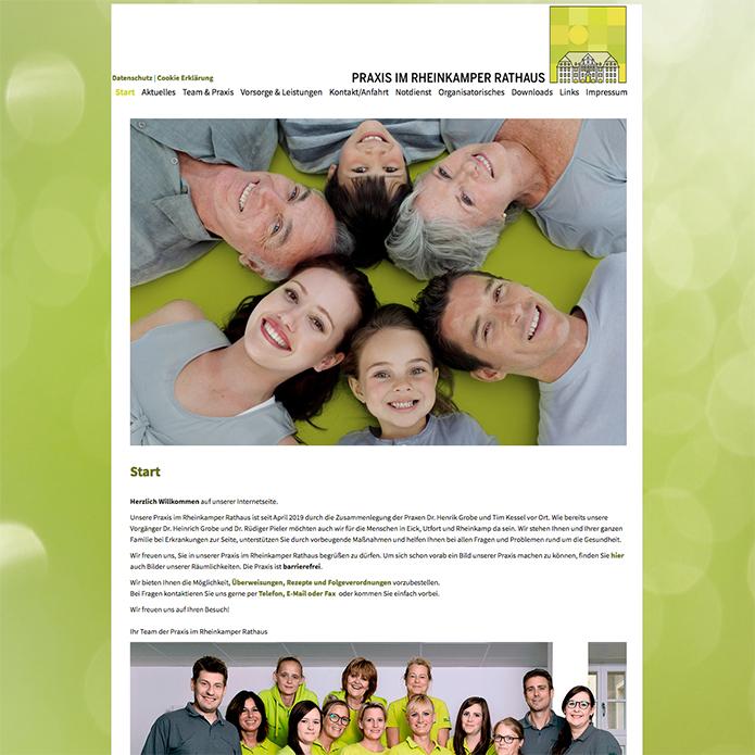 Praxis im Rheinkamper Rathaus · Homepage